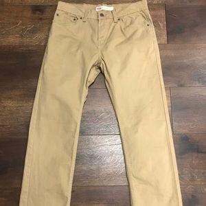 Levi's 511 Slim Fit Tan Jeans Size 30x30